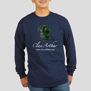 Clan Arthur Map - Long Sleeve Dark T-Shirt