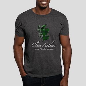 Clan Arthur Map - Dark T-Shirt