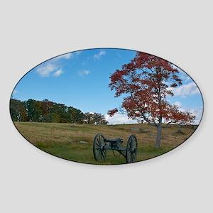 Gettysburg National Park - Fall - Cannon Sticker