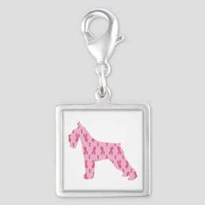Pink Ribbon Schnauzer for Cancer Charms