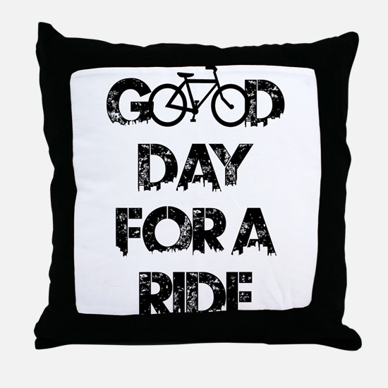Good Day For A Ride Throw Pillow