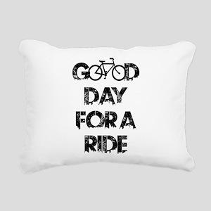 Good Day For A Ride Rectangular Canvas Pillow