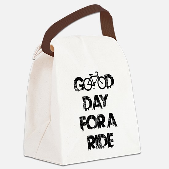 Good Day For A Ride Canvas Lunch Bag