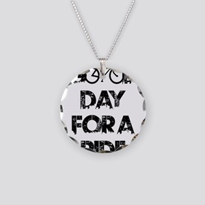 Good Day For A Ride Necklace Circle Charm