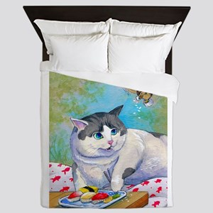 Sushi Cat© Picnic Suprise Christina Queen Duvet