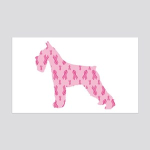 Pink Ribbon Schnauzer for Cancer Wall Decal