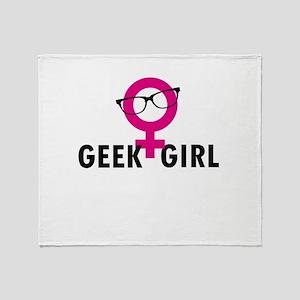 Geek Girl Throw Blanket