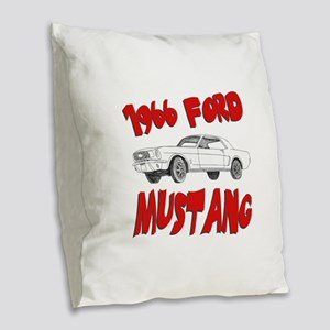 66 mustang Burlap Throw Pillow
