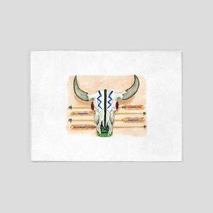 ceremonial skull tee 5'x7'Area Rug