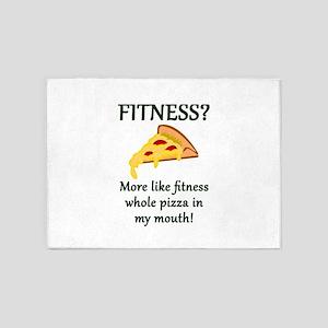 FITNESS? More like fitness whole pi 5'x7'Area Rug