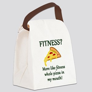 FITNESS? More like fitness whole Canvas Lunch Bag