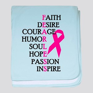 Fearless Breast Cancer Awareness baby blanket