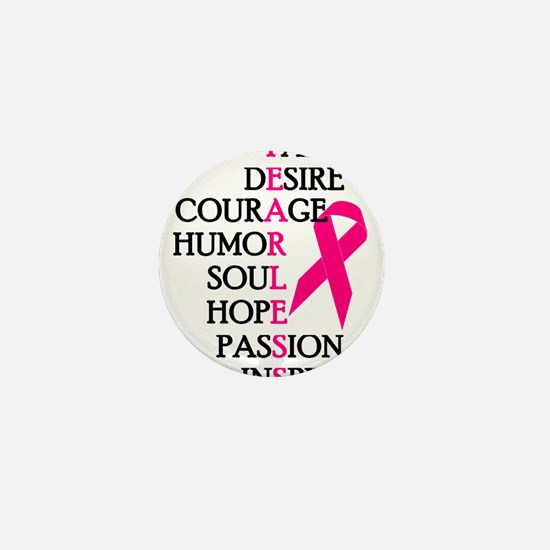 Fearless Breast Cancer Awareness Mini Button