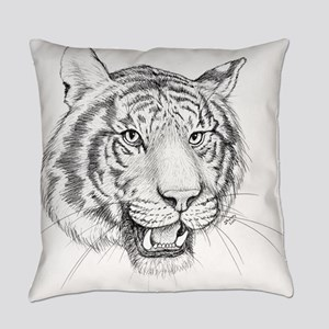 Tiger Art Everyday Pillow
