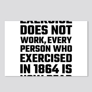 Exercise Does Not Work Postcards (Package of 8)