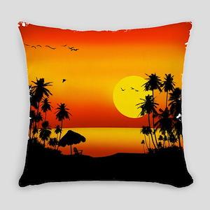 Island Sunset Everyday Pillow