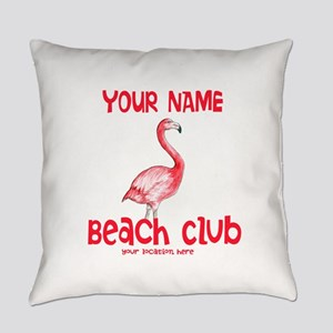 Custom Beach Club Everyday Pillow