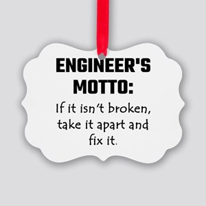 Engineer's Motto: If It Isn't Bro Picture Ornament