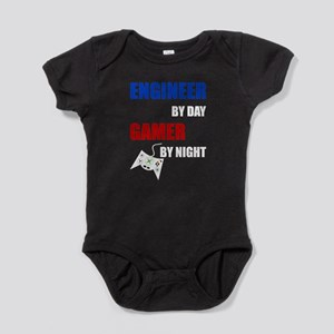 Engineer By Day Gamer By Night Baby Bodysuit