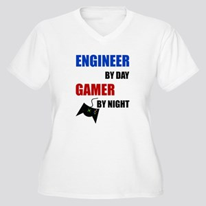 Engineer By Day Gamer By Night Plus Size T-Shirt