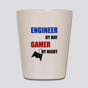 Engineer By Day Gamer By Night Shot Glass
