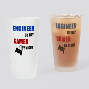 Engineer By Day Gamer By Night Drinking Glass