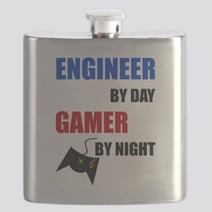 Engineer By Day Gamer By Night Flask
