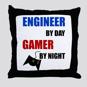 Engineer By Day Gamer By Night Throw Pillow
