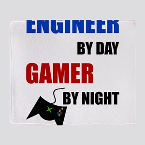 Engineer By Day Gamer By Night Throw Blanket