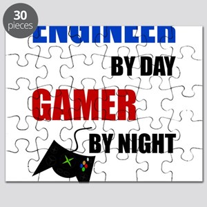 Engineer By Day Gamer By Night Puzzle