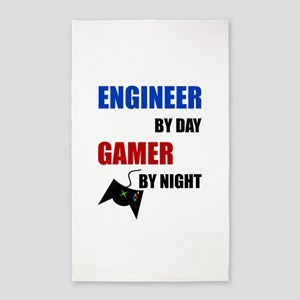 Engineer By Day Gamer By Night Area Rug