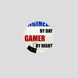 Engineer By Day Gamer By Night Mini Button