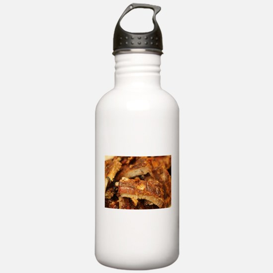 barbequed ribs close Water Bottle