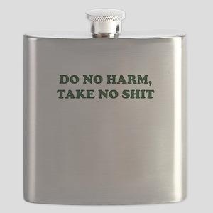 Do No Harm But Take No Shit Flask