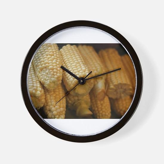rows of corn ears Wall Clock