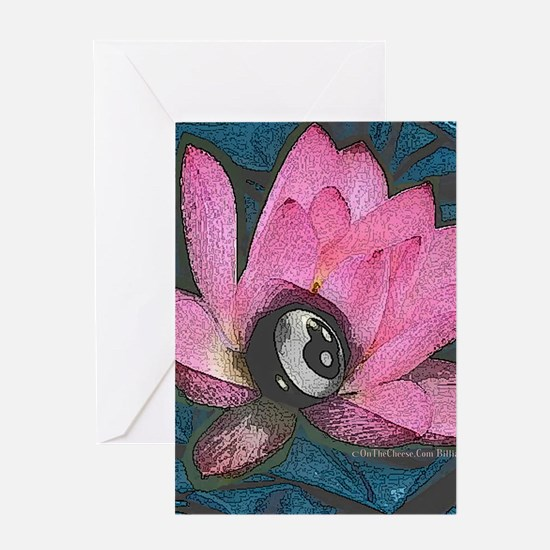 Pretty In Pink 8 Ball Greeting Card