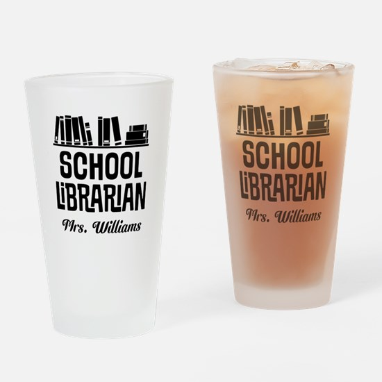 Personalized School Librarian Drinking Glass