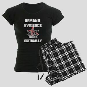 Demand Evidence Think Critic Women's Dark Pajamas