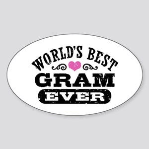 World's Best Gram Ever Sticker (Oval)