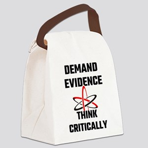 Demand Evidence Think Critically Canvas Lunch Bag
