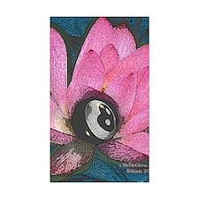 Pretty In Pink 8 Ball Sticker (Rectangle 10 pk)