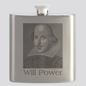 Shakespeare Will Power Flask