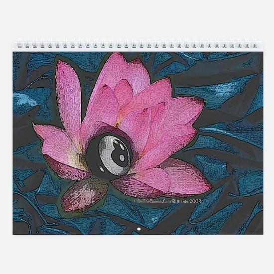 Pretty In Pink 8 Ball Wall Calendar