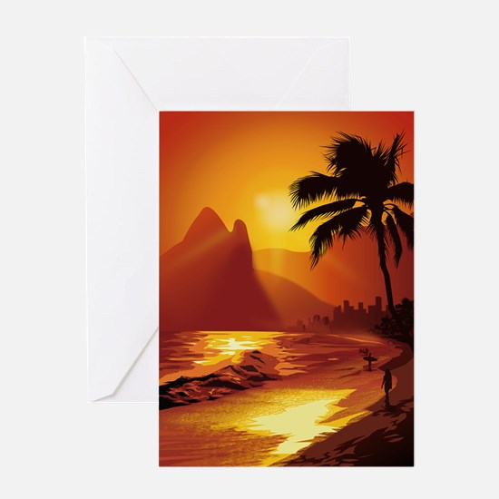 Copacabana Beach Greeting Card