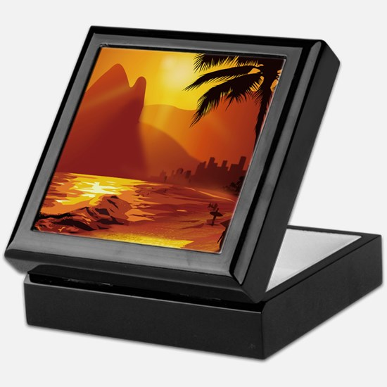 Copacabana Beach Keepsake Box