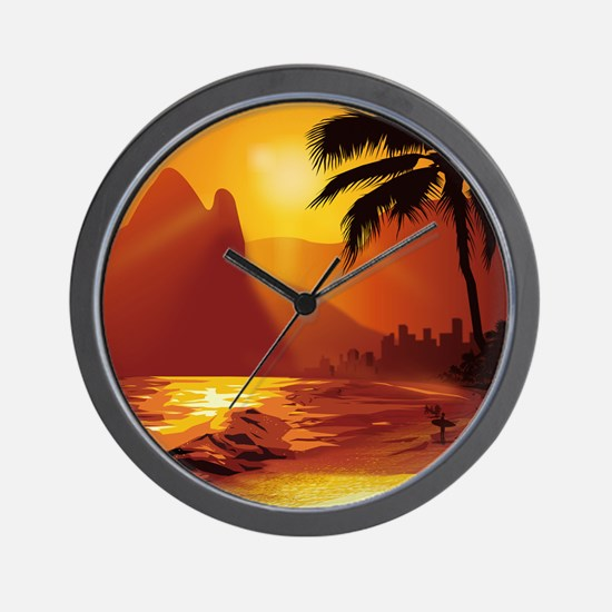 Copacabana Beach Wall Clock