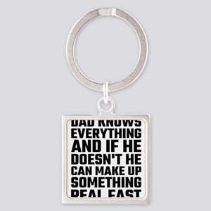 Dad Knows Everything Keychains
