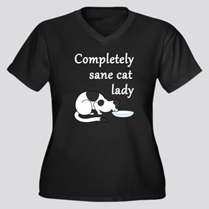 Completely Sane Cat Lady Plus Size T-Shirt