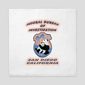 FBI San Diego Queen Duvet