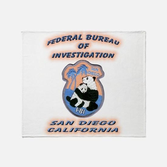 FBI San Diego Throw Blanket